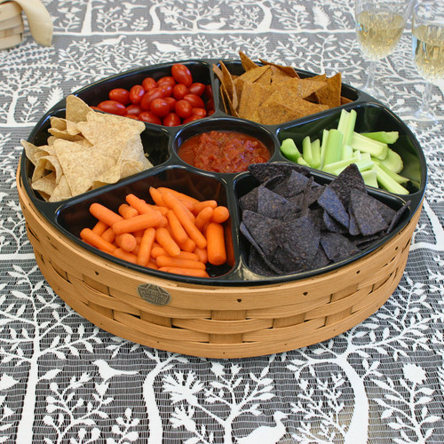 Peterboro Grand Buffet Lazy Susan Basket