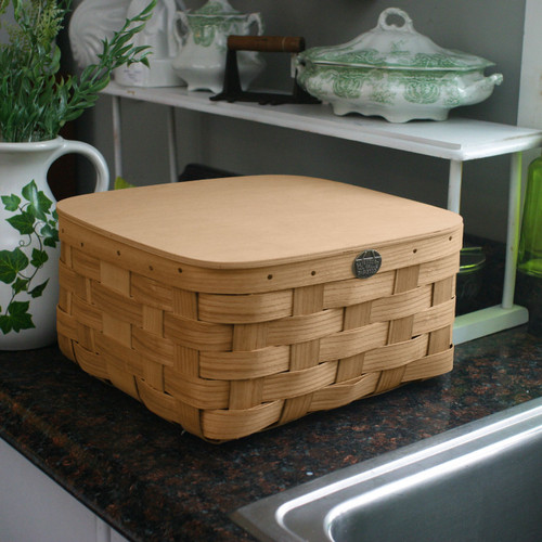 Peterboro Bedside Storage Basket with Hinged Lid