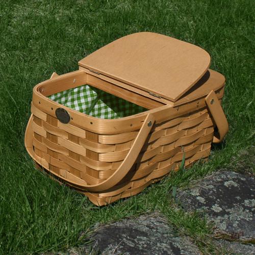 Peterboro Deluxe Twin Split Lid, Picnic & Storage Basket with Liner