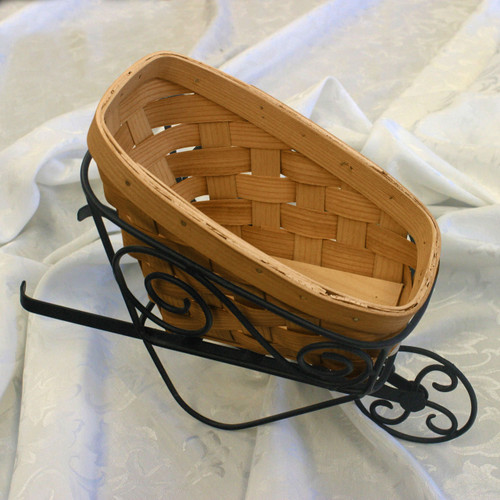 Peterboro Wrought Iron Wheelbarrow Display & Basket - Limited Edition