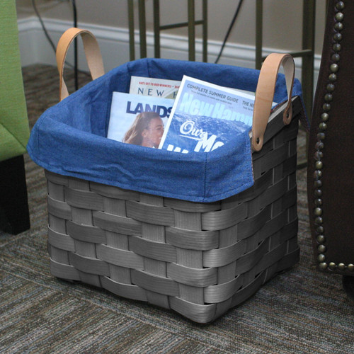 Peterboro Versatile Storage Basket with Reversible Liner