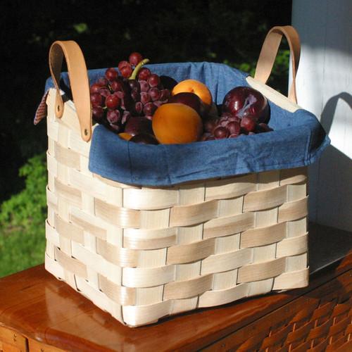 Peterboro Versatile Storage Basket with Reversible Liner