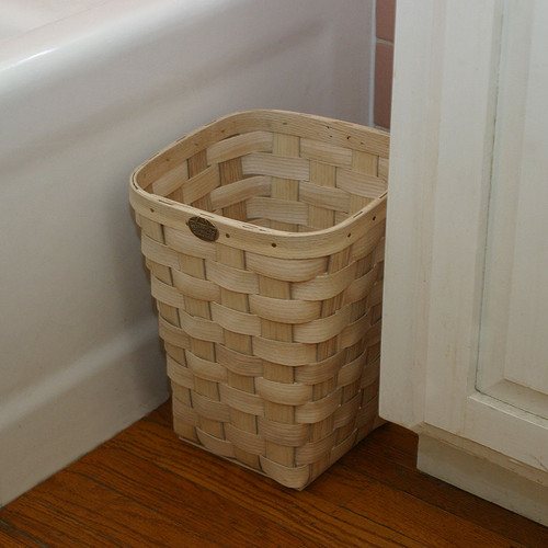 Peterboro Square Waste Basket - Naturally