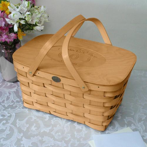 Peterboro Personalized Heirloom Wedding Picnic Basket