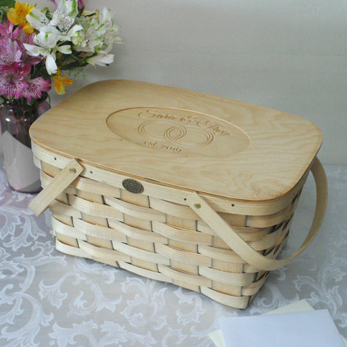 Peterboro Personalized Heirloom Wedding Picnic Basket