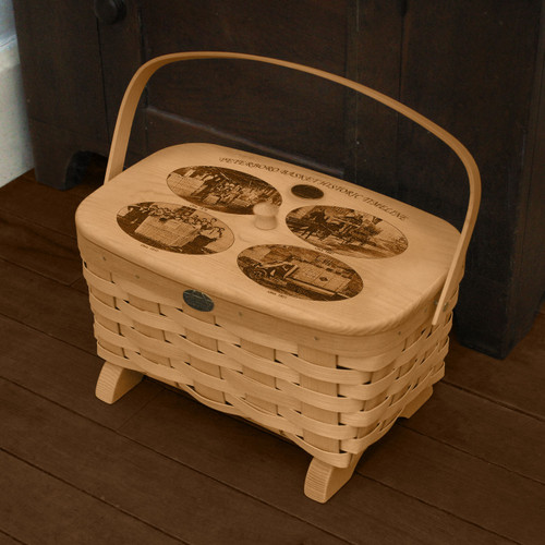 Limited Edition Historic Peterboro Basket Company Storage Basket