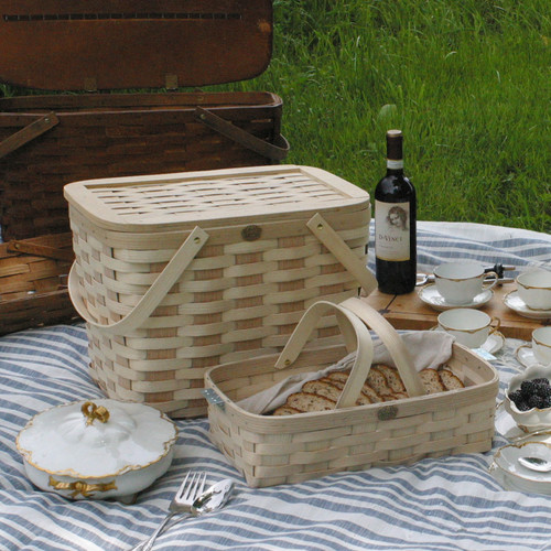 Peterboro Twice-as-Good 1930s Reproduction Picnic and Serving Basket
