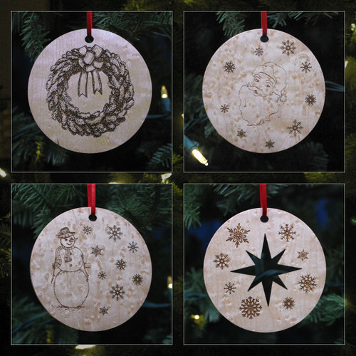 Peterboro Custom-Made Maple Ornament Set