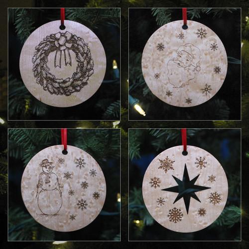 Peterboro Custom-Made Maple Ornament Set