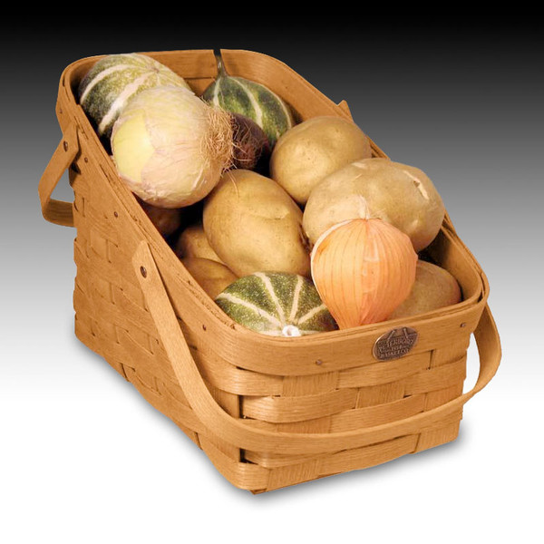 Peterboro Kitchen Veggie Basket with Two Swing Handles