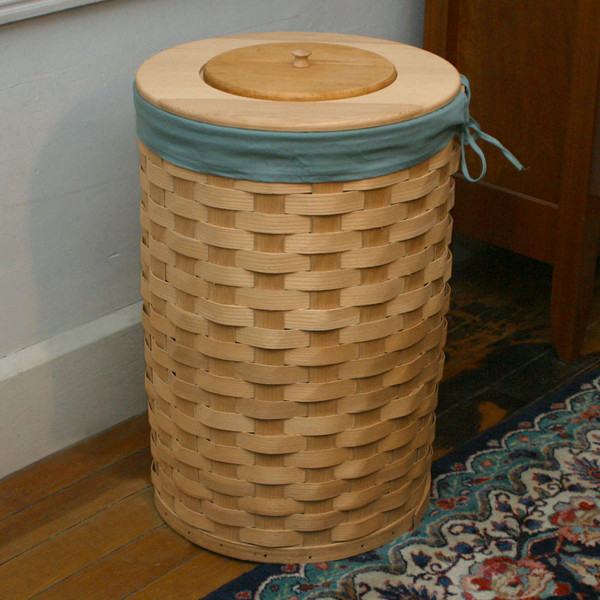 Peterboro Tall Round Laundry Hamper