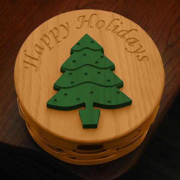 Peterboro Happy Holidays Collectible Countertop Storage Basket