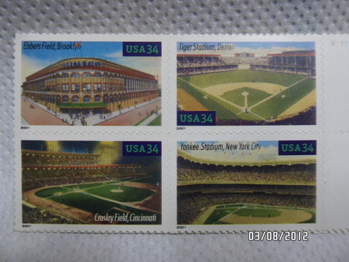 Baseball Fields Stamps