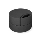 Affix Single Storage Ottoman in charcoal