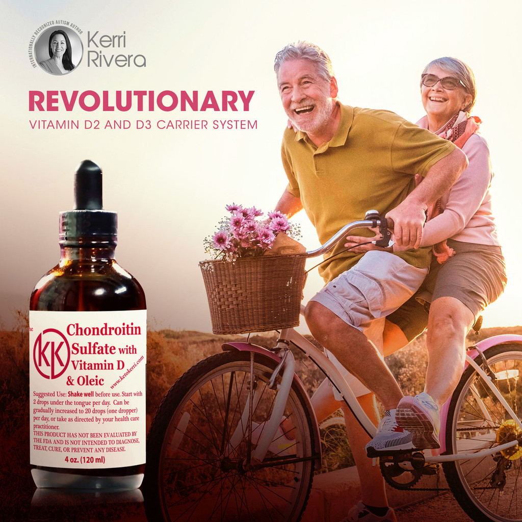 The picture shows a man and woman riding a bike, stating words revolutionary in science of destroying cancer, infections and chronic diseases.  Also helps with joint health function and bladder function support.