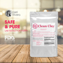 Our Clean Clay is a pure, safe, lab tested, and manufactured in a FDA approved facility.