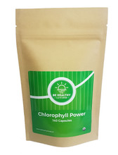 This is a picture of our Chlorophyll Power in a kraft bag, which contains 140 vegetarian capsules.   Our Chlorophyll Power purifies the blood and supports healthy levels of inflammation to maintain a healthy liver.