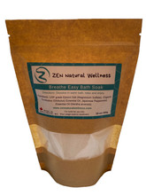This is a picture of a 450g bag of Breath Easy Salt Bath Soak , used to unblock nasal congestion and help fight flus and colds.