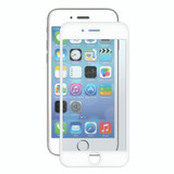 Bubble-Free Screen Protector for iPhone SE/8/7/6/6s - White - 2 pack
