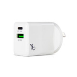 Dual USB Wall Charger - 20W PD USB-C + 12W QC 3.0 USB-A