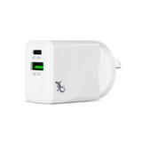 Dual USB Wall Charger - 30W PD USB-C + 12W QC 3.0 USB-A