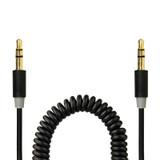 Gecko 3.5mm AUX audio coiled cable 1.8m - Black