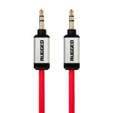 Rugged 3.5mm AUX audio round cable 1.0m - Red