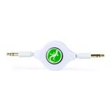 Retractable 3.5mm AUX audio round cable 80cm - White