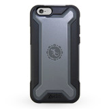Rugged Hybrid Case for iPhone 6/6s - Black/Grey