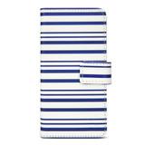 Designer Wallet Case for iPhone 6/6s - Blue Stripes