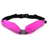 Dual Pocket Fitness Belt - Pink