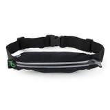 Single Pocket Fitness Belt - Black