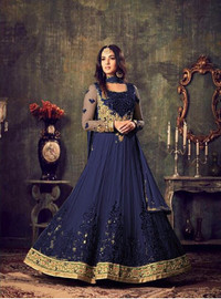 Womens wear Indo West Long Dresses Embroided SattoonWomens wear Indo West Long Dresses Premier Collection
