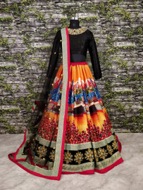 Womens wearWomens wear LehengaWomens wear Lehenga Art Silk & Velvet