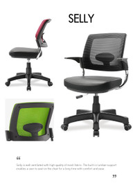 Ergonomic chair SELLY without armrest (Home or Office user) - PN 9022