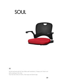 Ergonomic chair SOUL floor with armrest (Home or Office user) - PN 9027