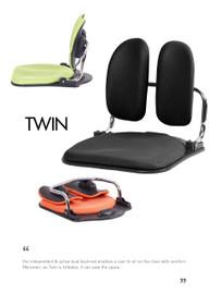 Ergonomic chair TWIN floor (Home or Office user) - PN 9029
