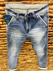 MENS BLUE RIPPED JEANS  PN - 10018 - MADE IN INDIA