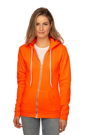 Unisex Fashion Fleece Neon Zip Hoody - PN 10988 - MADE IN US