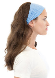 Women's Triblend Headband - PN 20130 - MADE IN US - combed ring spun 50% polyester 37% cotton 13% rayon