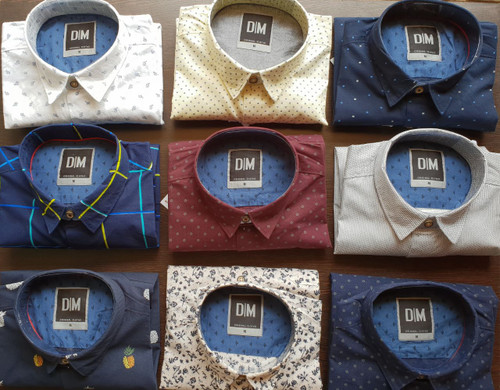 CARBAN PICH PRINTED Mens Shirts group order of 14 at wholesale cost on the 10 colors