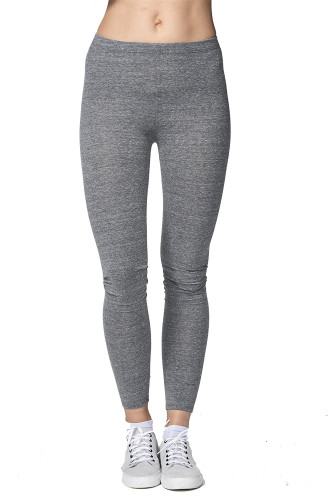 Eco Tri-blend Spandex Jersey Leggings - PN 33007 - MADE IN US - 46% RPET polyester 34% Organic cotton 12% rayon 8% spandex