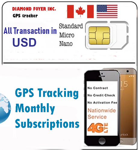 GPS Tracker Data subscription Compatible with GSM IOT devices