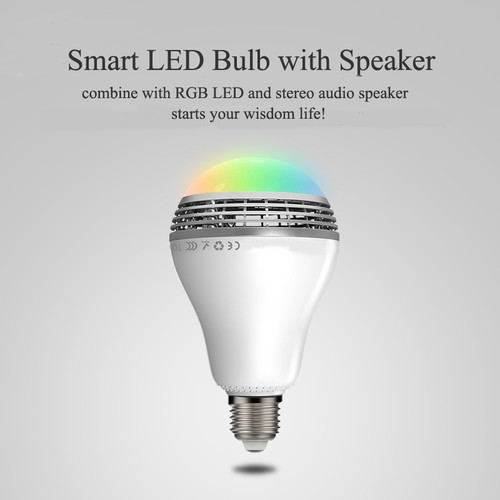 Smart LED bulb with speaker