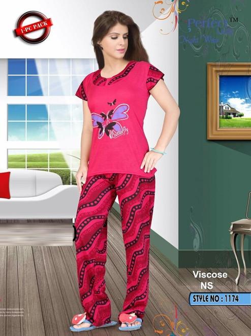 Womens wear Night Wear (Mini. Order 3)Womens wear Night Wear (Mini. Order 3) Night Dress 2 piecesShop by Series Series 4