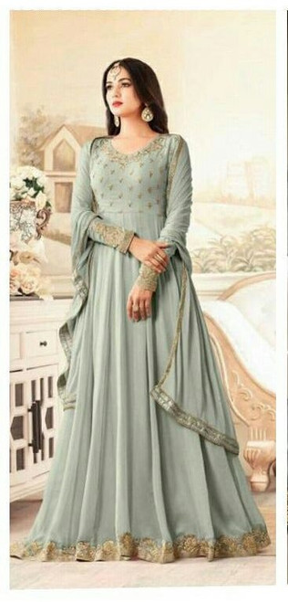 Womens wear Indo West Long Dresses GeorgetteWomens wear Indo West Long Dresses Premier Collection