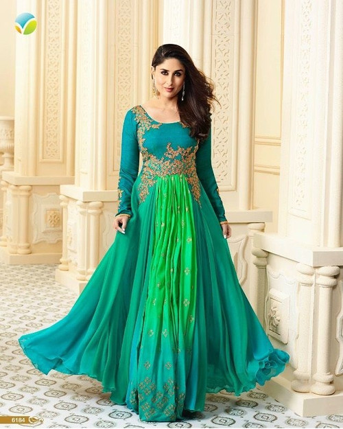 Womens wearWomens wear Indo West Long DressesWomens wear SalwarShop by Series Series 6Womens wear Salwar Designer Suit - Floor length