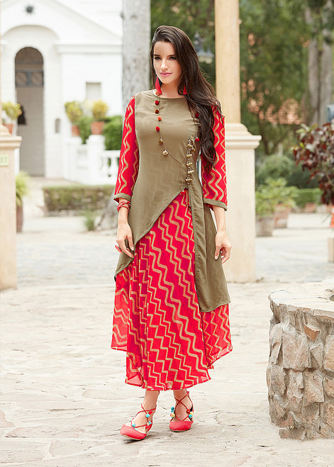 Womens wearWomens wear Kurtis (Mini. Order 4)Womens wear Kurtis (Mini. Order 4) Georgette