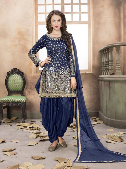 Womens wearWomens wear SalwarShop by Series Series 9Womens wear Salwar Patiala Art Silk Inner : Santoon