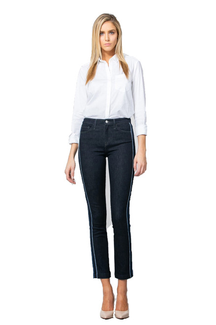 HIGH RISE TUXEDO ANKLE STRAIGHT  PN - 10017 - ORIGIN US MADE IN MEXICO
